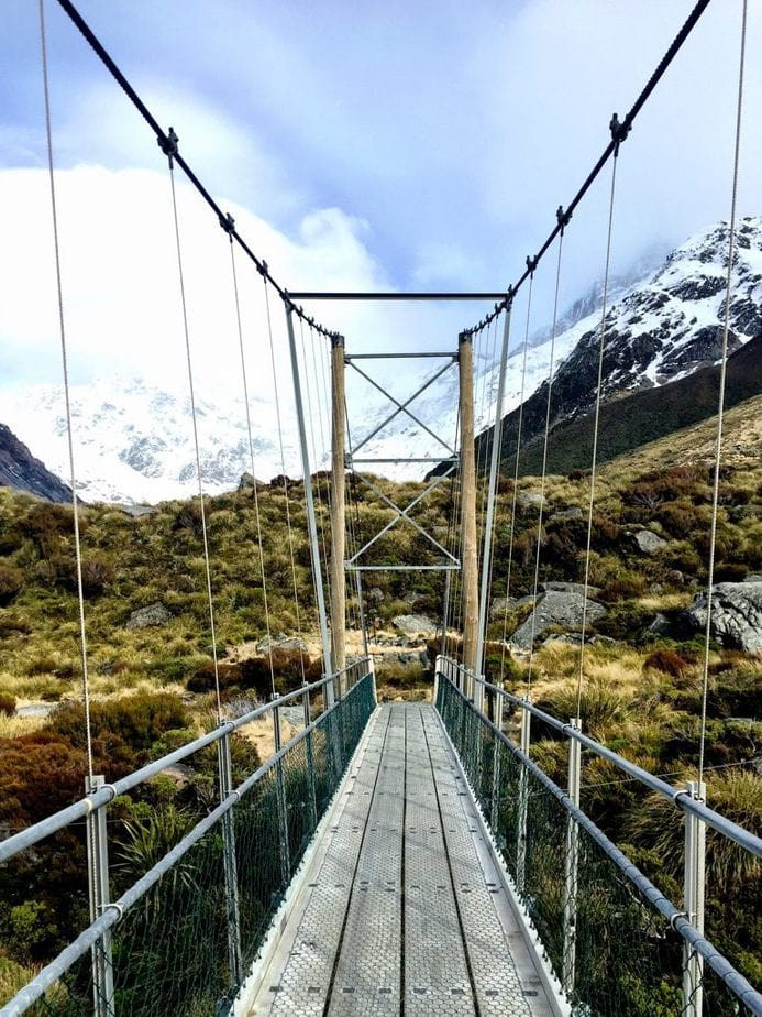 Suspension Bridge on the Hooker Valley Track