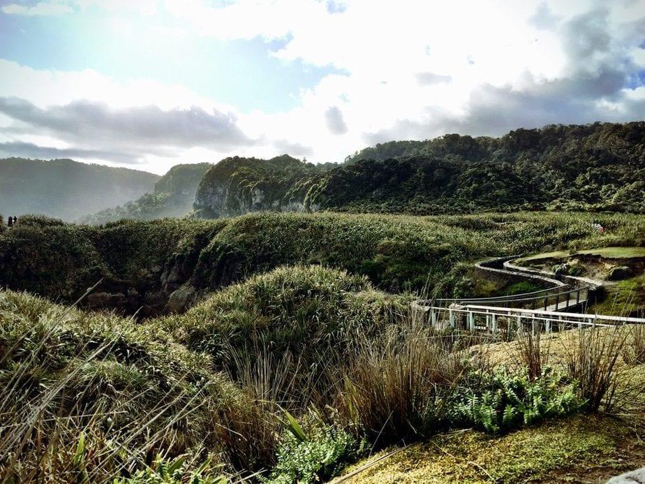 Path leading from the Pancake Rocks in Punakaiki, NZ