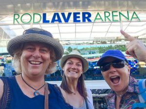 Hanging out at the Australian Open in front of the Rod Laver Arena to watch some tennis in Melbourne