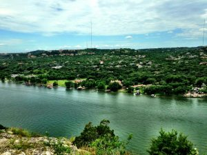 View of the Colorado River from Mount Bonnell