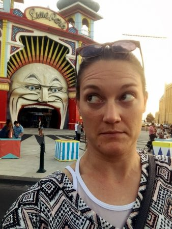 I've learned to not take things so seriously like the entrance to Luna Park in St. Kilda, Melbourne Australia
