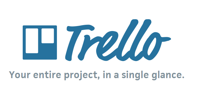 Trello Logo with the tagline Your entire project in a single glance