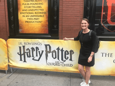 Traveling Tayler attending the performance of Harry Potter and the Cursed Child after winning the Broadway Lottery