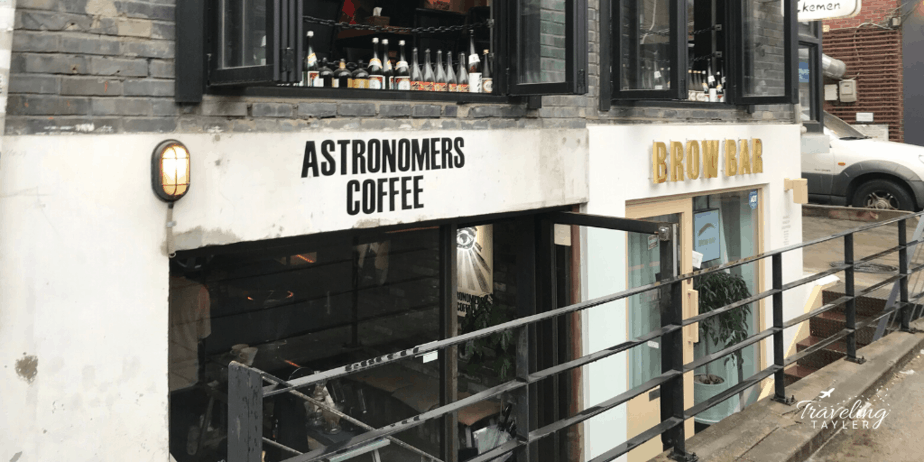 Astronomers Coffee entrance in Seoul south korea
