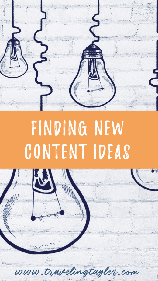 Finding New Content Ideas